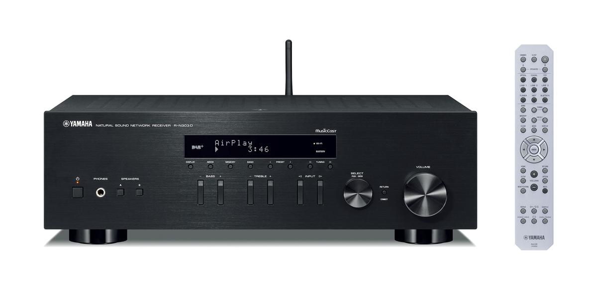 yamaha r n303d einstiegs stereo netzwerk receiver hifi. Black Bedroom Furniture Sets. Home Design Ideas