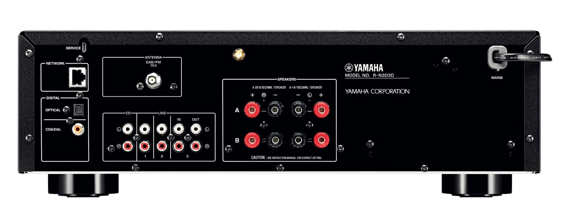yamaha r n303d einstiegs stereo netzwerk receiver hifi. Black Bedroom Furniture Sets. Home Design Ideas