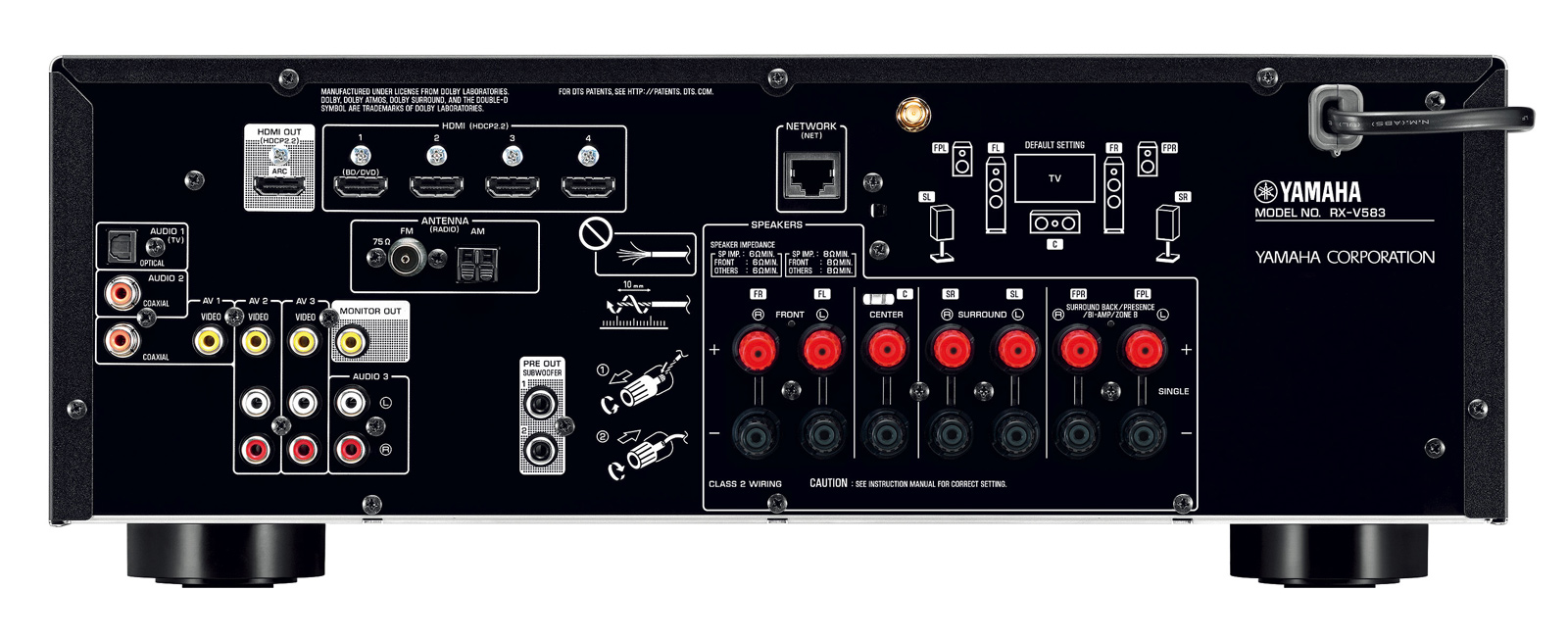 Bluetooth Yamaha Rx V