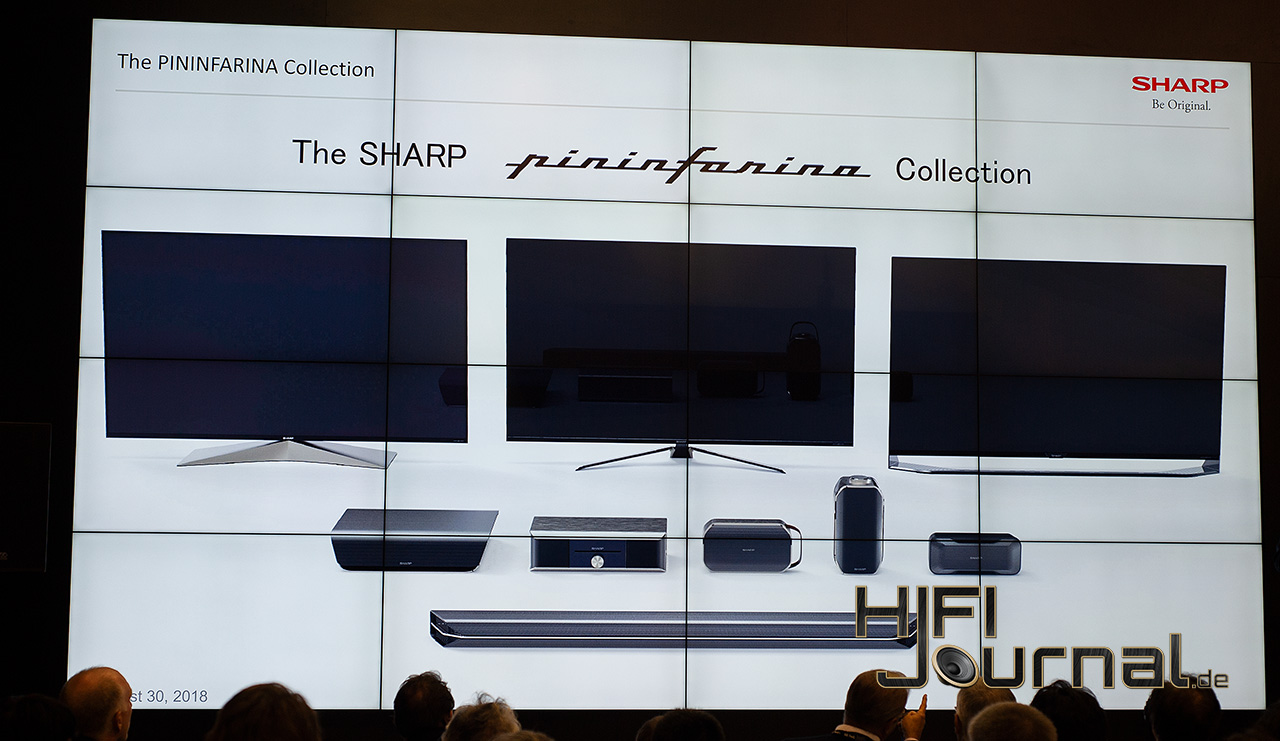 Sharp TV Audio Pininfarina Lineup
