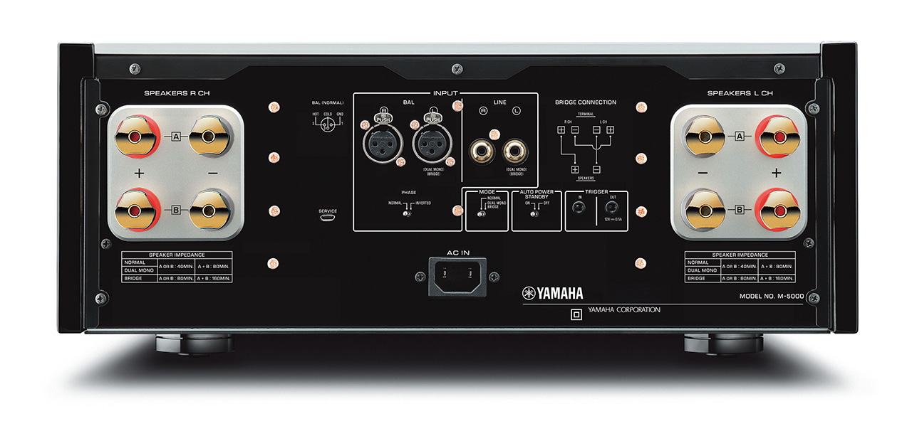 yamaha m 5000 endstufe mit vu meter hifi journal. Black Bedroom Furniture Sets. Home Design Ideas