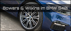 BMW 540i Bowers Wilkins Soundsystem news