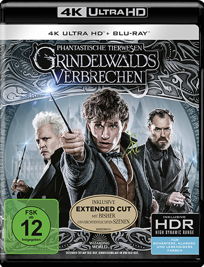 phantastische tierwesen grindelwalds verbrechen 4K UHD blu ray review cover