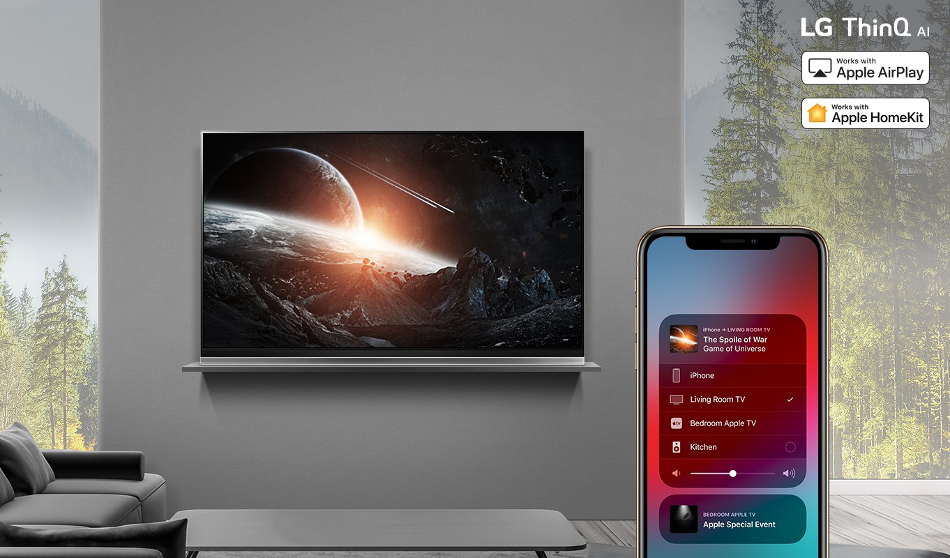 Apple AirPlay2 on 2019 LG ThinQ AI TVs 01