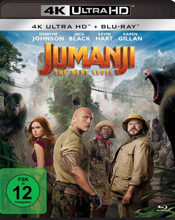 jumanji next level 4k uhd blu ray review cover